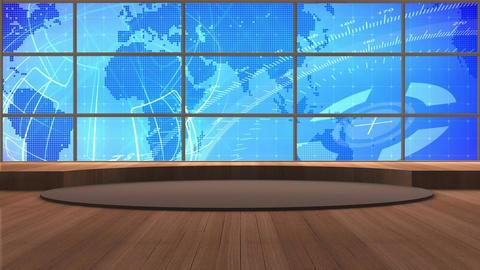 News TV Studio Set 171 - Virtual Background Loop Live Action