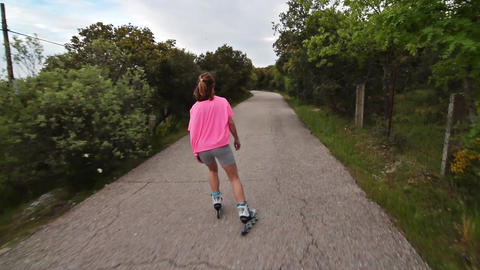 Girl skating Live Action
