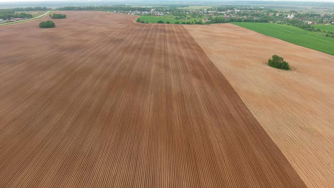 Aerial view of farm lands Live Action