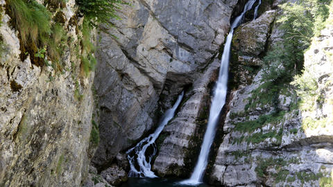 Timelapse - Rocky cascading waterfall Live Action