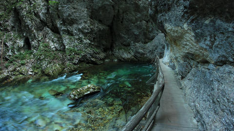 Timelapse - Pure emerald color river running through the…, Live Action
