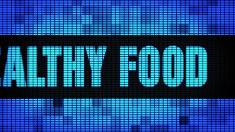 Healthy Food Front Text Scrolling LED Wall Pannel Display Sign Board Live Action