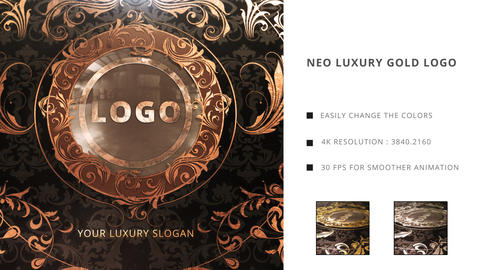 Neo Luxury Golden Logo After Effects Template