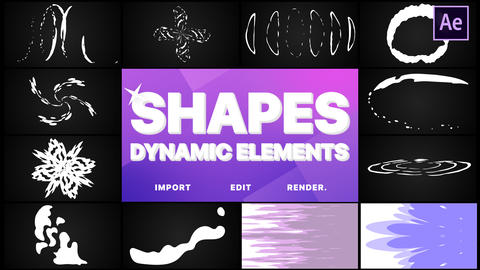 Dynamic Shapes Pack After Effects Template