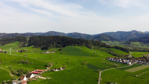 Drone-Flight Black Forest Germany fly spin90 village forest 2 GIF