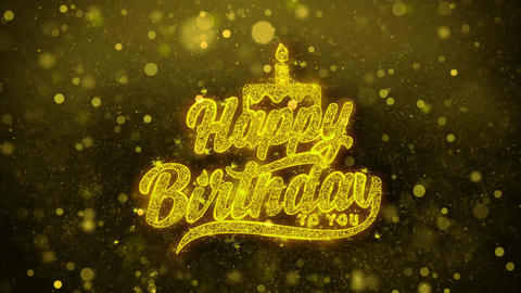 Happy Birthday to you Wishes Greetings card, Invitation, Celebration Firework Live Action