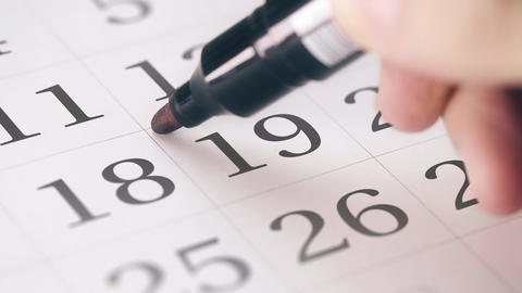 Marked the nineteenth 19 day of a month in the calendar transforms into DEADLINE Live Action