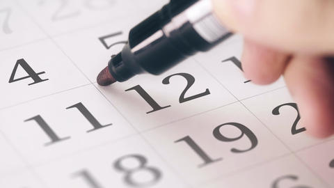 Marked the twelfth 12 day of a month in the calendar transforms into DEADLINE Live Action