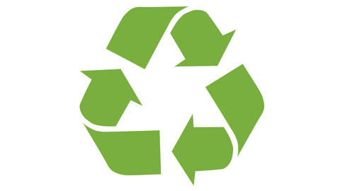 Animated recycling logo Footage