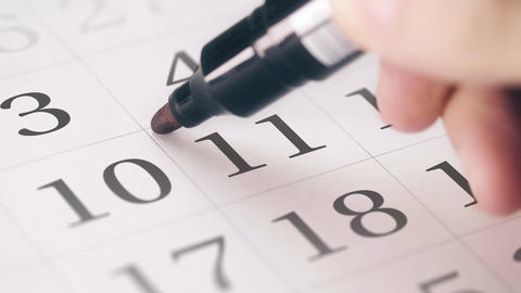 Marked the eleventh 11 day of a month in the calendar transforms into DEADLINE Live Action