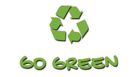 "Animated recycling logo with ""green"" slogan - Go Green Footage"