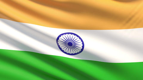 The National Flag of India Footage