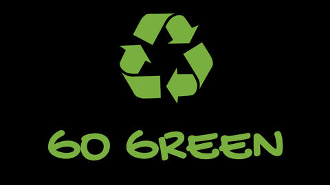 """Animated recycling logo with """"green"""" slogan - Go Green Live Action"""