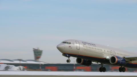 Aeroflot Boeing 737-800 take-off Archivo