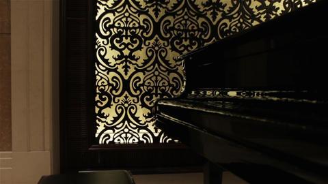 Black Retro Grand Piano Live Action