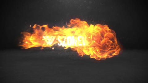 FIRE STORM LOGO REVEAL Plantilla de After Effects
