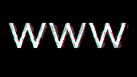 From the Glitch effect arises abbreviation WWW. Then the TV turns off. Alpha channel Premultiplied - Animation