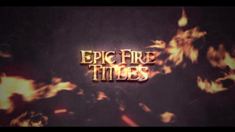 EPIC FIRE TITLES INTRO After Effectsテンプレート
