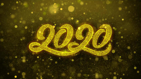 2020 New Year Wishes Greetings card, Invitation, Celebration Firework Live Action