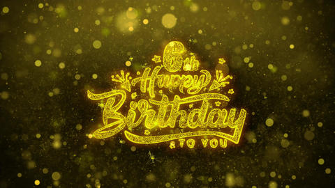 6th Happy Birthday Wishes Greetings card, Invitation, Celebration Firework Live Action