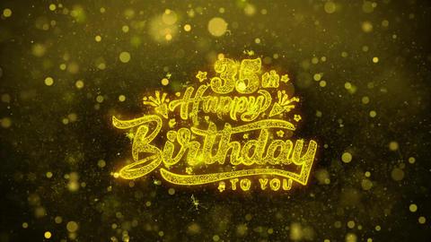 35th Happy Birthday Wishes Greetings card, Invitation, Celebration Firework Footage