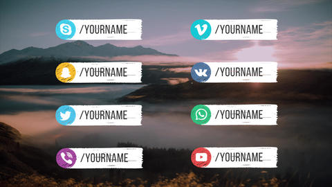 Hand Drawn 16 Social Media Lower Thirds After Effects Template