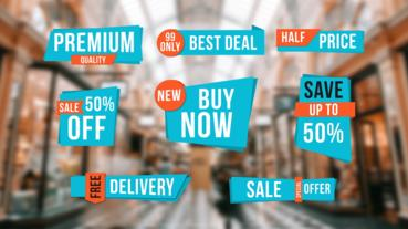 Sale Labels After Effects Template
