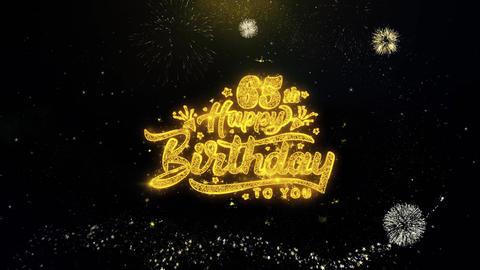 XXXXXXXXX Written Gold Particles Exploding Fireworks Display Live Action