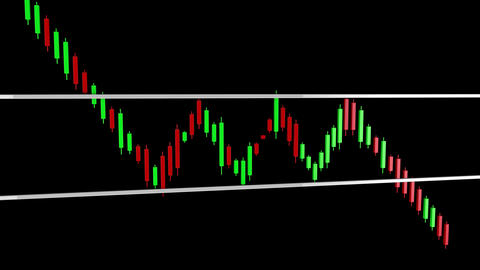 4K Bearish Rectangle Stock Chart Pattern with Matte 2 Animation