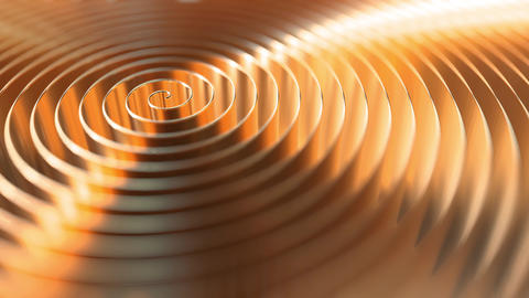 Copper coil, shallow focus. Loopable motion background Live Action