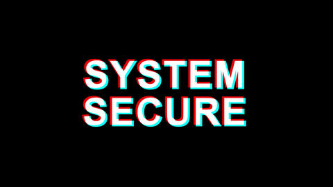 System Secure Golden Text Blinking Particles with Golden Fireworks Display Live Action
