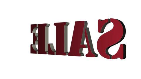 Sale 3D text title. 3D text rotating letters Sale.…, Stock Animation