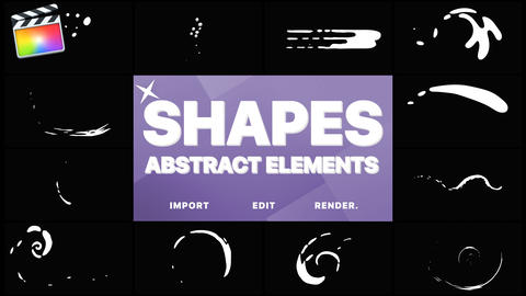 Funny Abstract Shapes Apple Motion Template