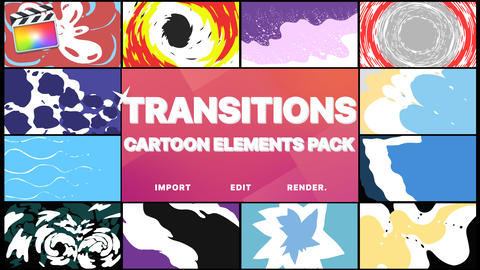 Cartoon Transitions Apple Motion Template