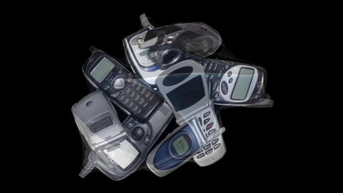 The transformation of the smartphone. The appearance of... Stock Video Footage