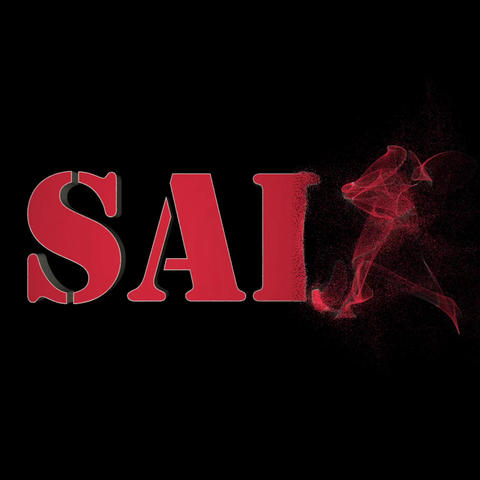 Sale inscription animation. Particle text animation. The... Stock Video Footage