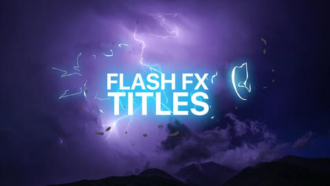 Cartoon Lyric Titles After Effects Template