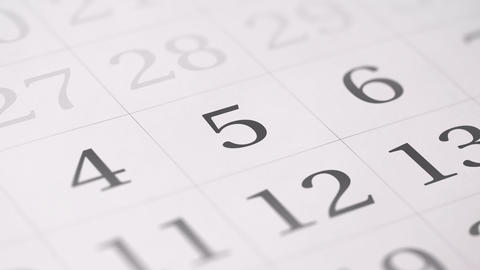 Marked the fifth 5 day of a month in the calendar... Stock Video Footage