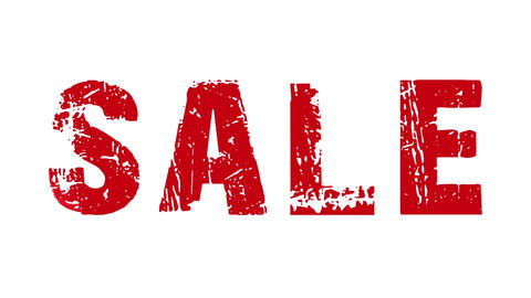 SALE animated text with moving hand and finger 1 Stock Video Footage