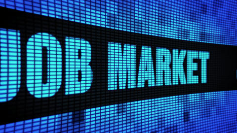 Job market SideText Scrolling LED Wall Pannel Display Sign Board Footage