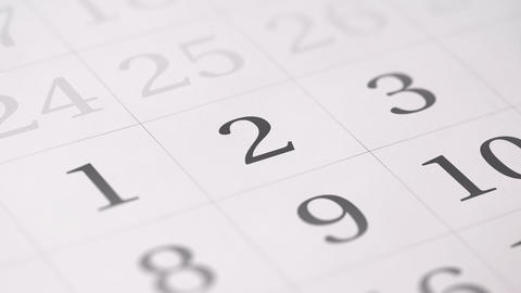 Marked the second 2 day of a month in the calendar... Stock Video Footage