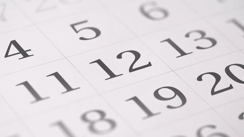 Marked the twelfth 12 day of a month in the calendar... Stock Video Footage