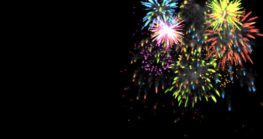 animation modern fireworks background Footage