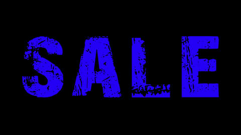 SALE animated text with moving hand and finger 3 Animation