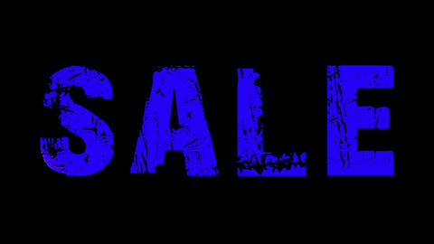 SALE animated text with moving hand and finger 3, Stock Animation