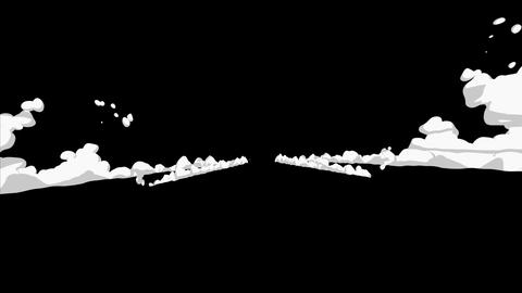 Smoke animation from fast movement. Animation element for… Stock Video Footage