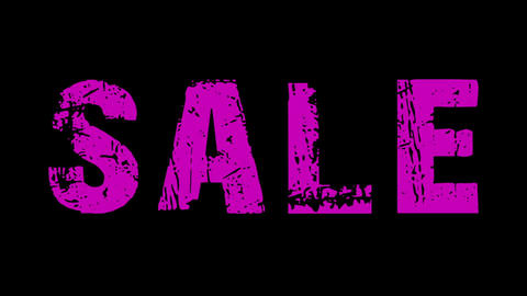SALE animated text with moving hand and finger 7, Stock Animation
