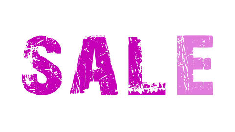 SALE animated text with moving hand and finger 9 Stock Video Footage