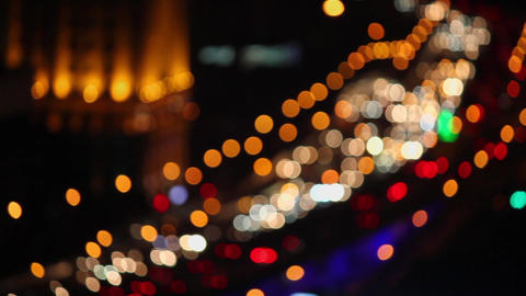 Defocused of Car's light , Shanghai,China Live Action