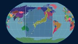 Japan (Kavrayskiy VII). Administrative CG動画素材